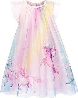 Unicorn Nightgowns Girls Rainbow Nightie Dresses Sleepwear Pajamas Dress Nightshirt