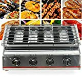 Edelstahl Grill Flammen Gasgrill Steakgriller Gasbrenner zum Grillladen 4 Flammen