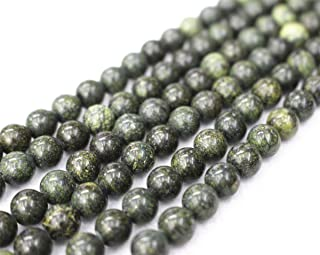 Wholesale Russian Serpentine Beads,6mm 8mm 10mm Serpentine Beads Smooth and Round Beads.Russian Serpentine Beads Wholesale.Wholesale Beads. (8mm,47pcs)