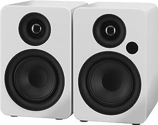 IMG STAGELINE SOUND-4BT/WS Actieve 2-Weg Stereo Luidsprekerbox Systeem Wit
