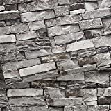 Brick Wallpaper, Stone Textured, Removable...