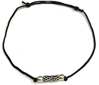 DARSHRAJ Jewellers 925 Sterling Silver(Chandi) Black Thread Anklet payal Bracelet   for Girls Men Women Boy Baby Girl boy 