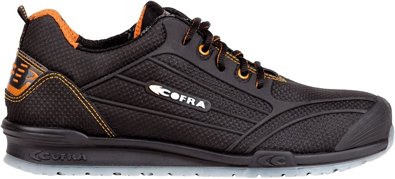 Cofra 78881-000.W44 Work shoes,  Cregan , Size 9.5, Black - EN safety certified
