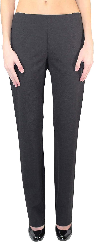 Buchanan & Kang Womens Gabardine Stove Leg Pant Grey
