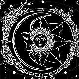 Mandala Tapiz Luna Sol Tapiz Psicodélico Colgante de pared Bohemio Indio Hippie Tragaluz Paño de...