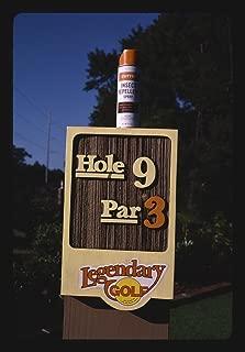 Vintography 16 x 24 Photo of Hole 9 Sign, Plantation Falls Legendary Golf, Hilton Head Island, South Carolina 1985 Ready to Frame 85a