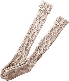 COZOCO, Calzas De Punto De Invierno Para Mujer Calzas De Ganchillo Calientes Botas Perezosas