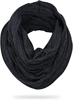FORBUSITE Stylish Men Cable Soft Knit Infinity Scarf Winter