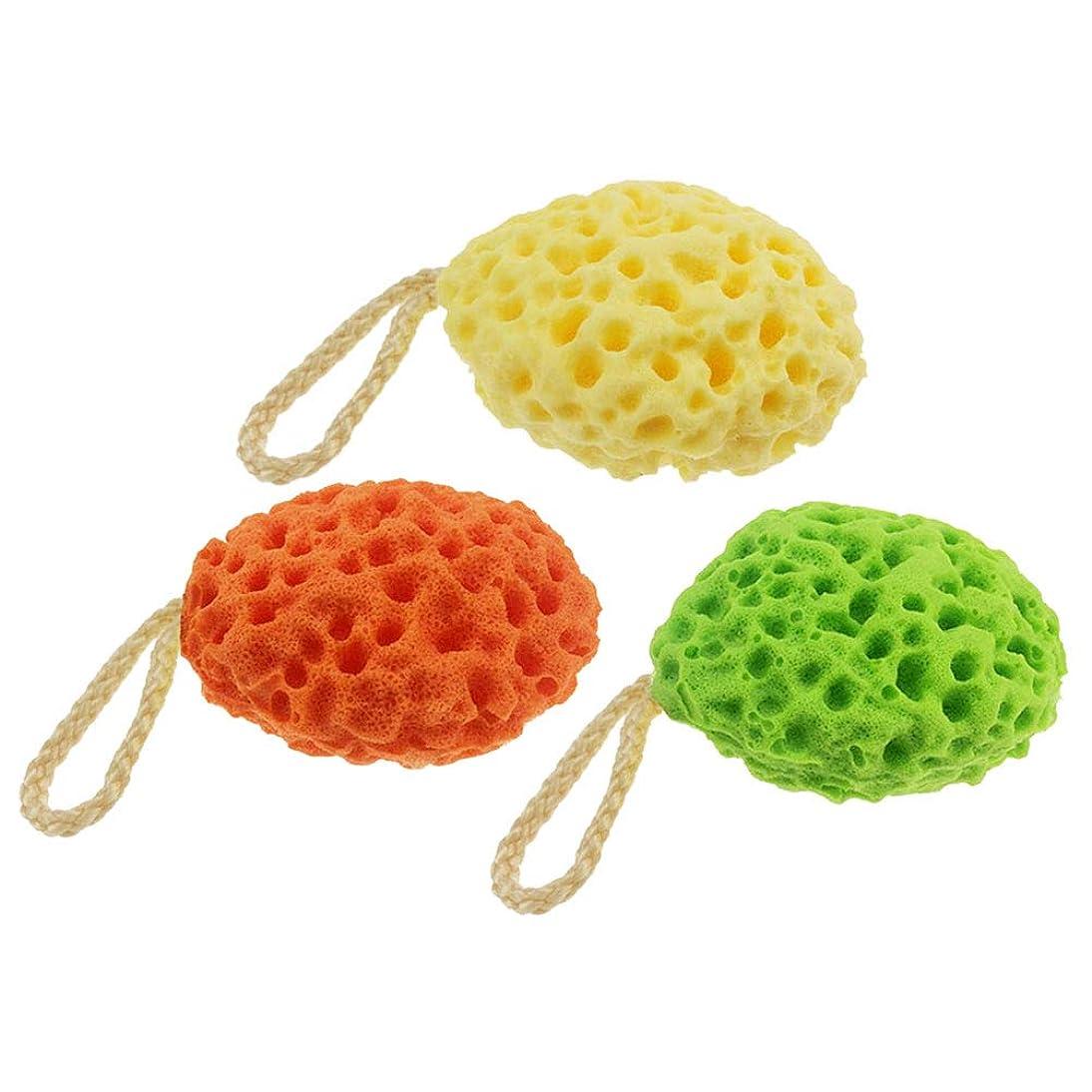 ダースコンペリーズSUPVOX ハニカムバススポンジ シャワースポンジ ボディースポンジ 風呂 かわいい 柔らかい 3本(混合色)