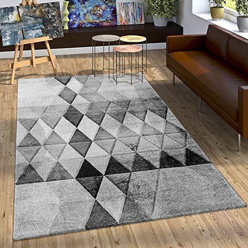 Paco Home Cr/éateur Tapis Moderne Contours D/écoup/és Couleurs Pastel /À Carreaux Motif en Beige Rose Dimension:60x110 cm