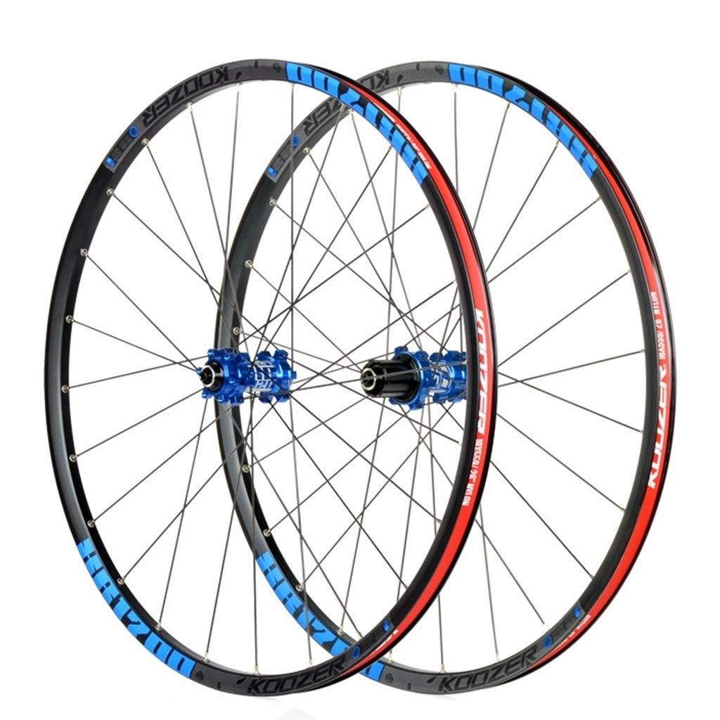LSRRYD Juego de Ruedas Bicicleta montaña 27.5 Pulgadas Rueda Delantera Trasera para MTB Bicicletas Ruedas de Ciclismo aleación Aluminio 8 9 10 11 Velocidad (Color : Blue, Size : 27.5 Inch): Amazon.es: Deportes y aire libre