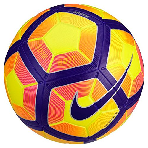 Nike Ordem 4–Pallone, Colore: Giallo, Taglia 5