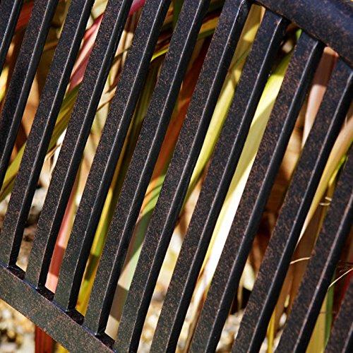 Lazy Susan Furniture – Grace Metall Gartenbank Antique Bronze (kein Kissen) - 6
