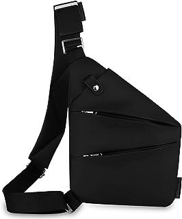 Bandolera, cruzada al hombro, por el pecho o la espalda, mochila antirrobo, para hombre y mujer