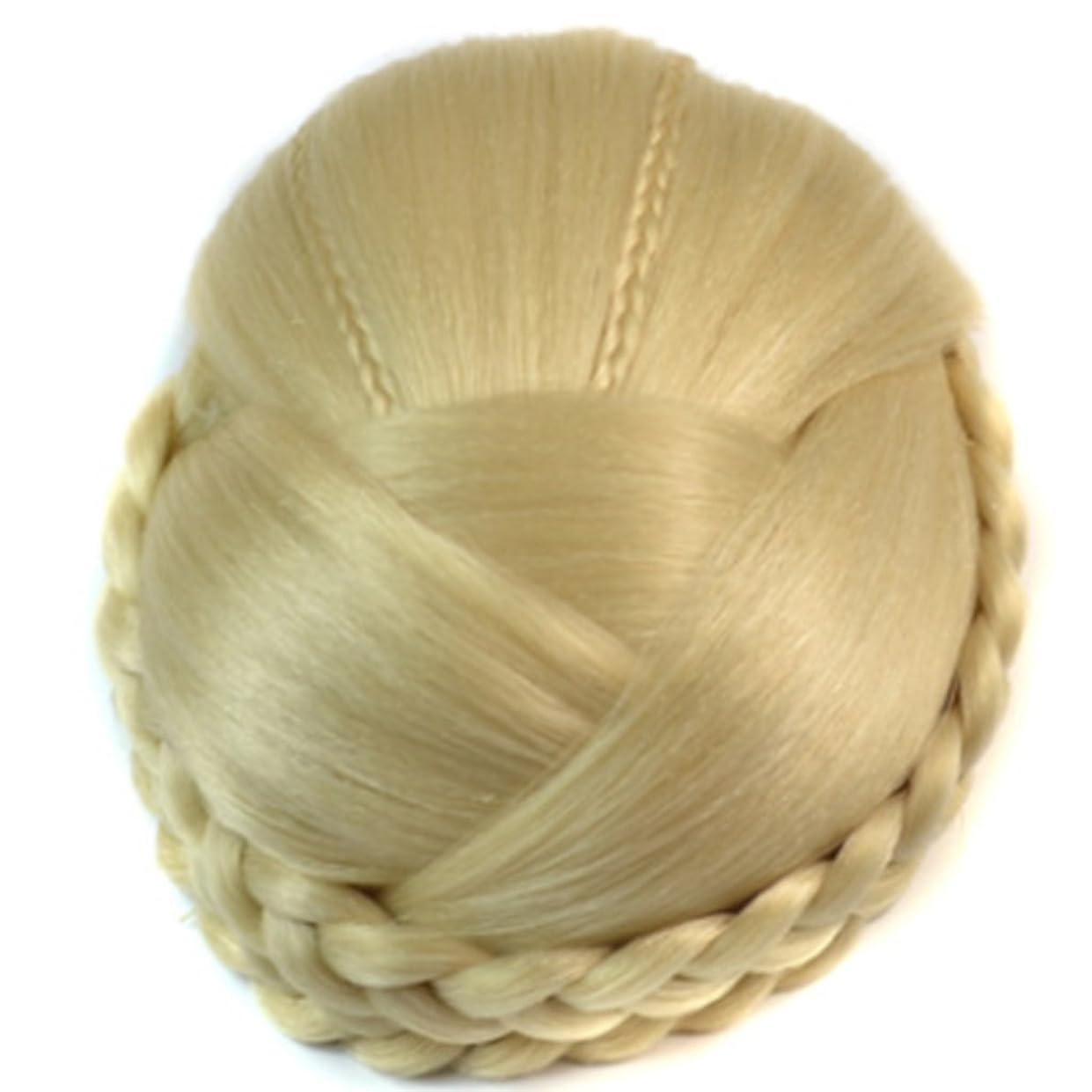 昇る国家落とし穴Doyvanntgo 女性のためのヘアピンアクセサリーの周りの二重ブレードのためのベージュヘアバン拡張の合成繊維のかつら (Color : Beige)