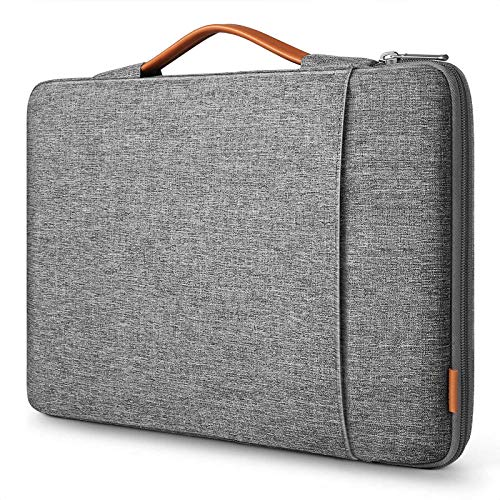 Inateck Laptoptasche Hülle Kompatibel mit 16 Zoll MacBook Pro 2019/15 Zoll Surface Book 2/XPS 15, Ultrabook Sleeve Hülle, 360° Schutz – Grau