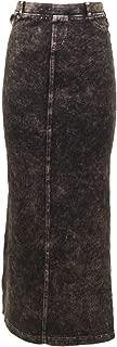 Forever Long Denim Skirt - Back Pockets, Closed Slit - Style WJ-114
