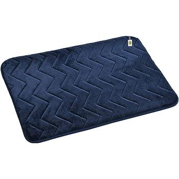 Yellow Weaves Super Soft Microfiber Anti Slip Bath Mat, 40 X 60 CMs, Color : Blue