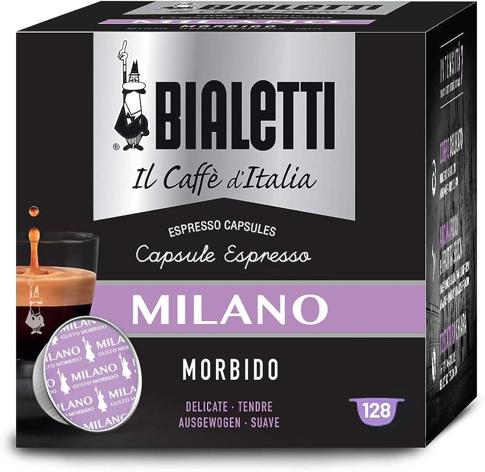 Bialetti il caffè d`italia, miscela milano (gusto morbido )- multipack 128 capsule