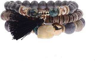 Spring Summer Fashion Women's Bracelet Set 3Pcs/Lot Charm Beads Bracelet Jewelry for Ladies HXB002