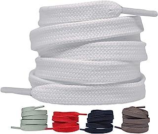 LaceHype 2 Paar - Premium Flache Schnürsenkel reißfeste Schuhbänder [10 mm breit ] Ersatz Shoelaces aus Polyester für Snea...