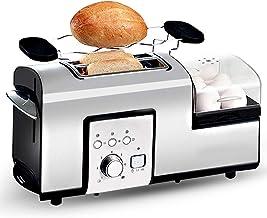 L.TSA Cocina Eléctrica Tostadora de Acero Inoxidable Desayuno Sandwich Pan Máquina para Hornear Huevos Caldera Steam Poacher Omelette