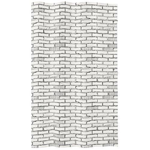 Meusch Duschvorhang Bricks, Plastik, Weiß/grau, 40 x 30 x 10 cm