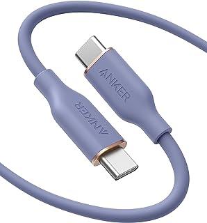 Anker PowerLine III Flow, USB-C naar USB-C oplaadkabel 100 W 180 cm, Type-C kabel, compatibel met MacBook Pro 2020, iPad P...
