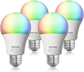 Smart LED Light Bulb 2.4G(Not 5G) E26 WiFi Multicolor Light Bulb Work with Alexa,Siri,..