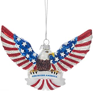 Kurt Adler Noble Gems Patriotic Eagle Ornament