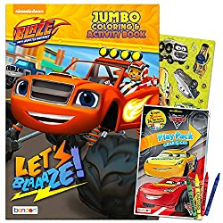 Blaze and the Monster Machines Coloring and Activity Book with Bonus Mini Cars Coloring Book with Stickers (Blaze Party Supplies)