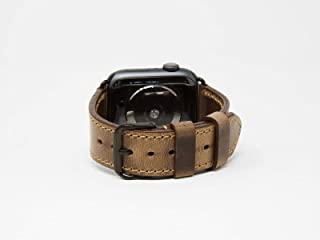 Horween Leather Apple Watch Strap for 38mm 40mm 44mm 42mm Handmade Adjustable Apple Watch Band All Series