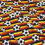 Werthers Stoffe Stoff Baumwolle Jersey Meterware Fussball