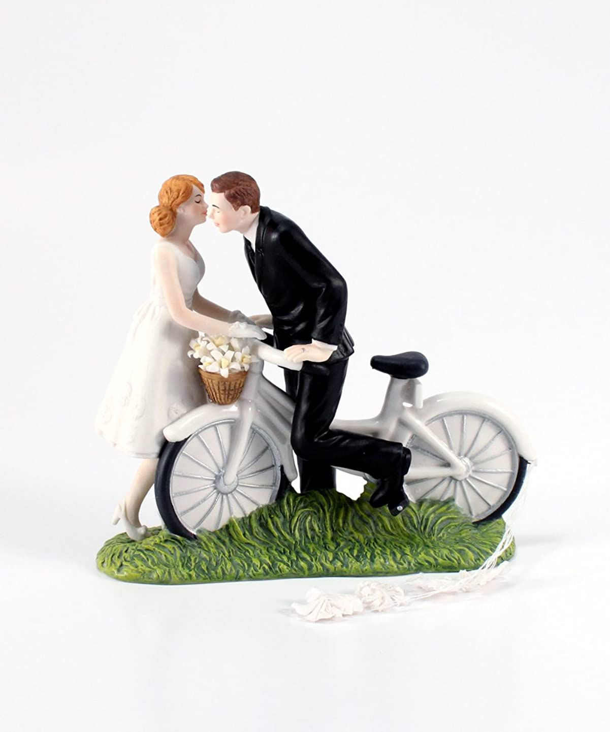 Weddingstar A Kiss Above Bicycle Bride and Groom Couple Figurine for Cakes