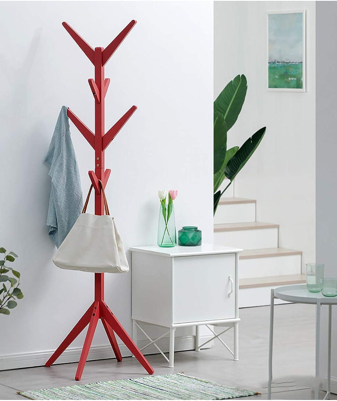 Coat Rack Coat Rack Floor Bedroom Coat Storage Creative Simple Solid Wood Living Room Clothes Rack Hanger (color   B)
