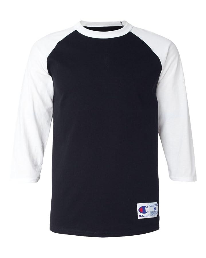 カテゴリー別々にカナダ(チャンピオン) ChampionラグランベースボールTシャツ メンズ US サイズ: Large カラー: ブラック