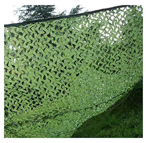 Oxford poliéster ReforzadaMalladeCamuflajeReddeCamuflajeBosque para Acampar/Sol Al Aire Libre/Decoración De La Fiesta del Tema/Cubiertas del CocheRed de camuflaje(Size:2X8m(6.5X26ft),Color:Verde puro)