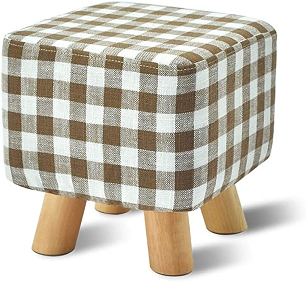 Solid Wood Change Shoes Stool Upholstered Footstool Footrest Small Seat Foot Rest Chair Lattice
