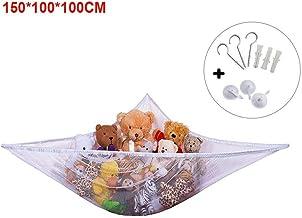 adorabile rete per conservare giochi dimensioni: 218,4 x 152,4 x 152,4 cm animali di pezza e orsacchiotti grande amaca per giocattoli Huijukon angolo giocattoli