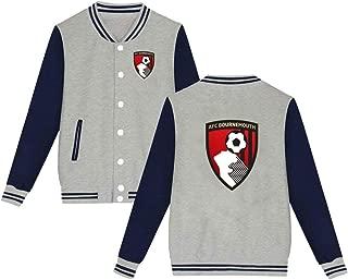 Dream Catcher1 EPL AFC Bournemouth Jacket Men Women Bomber Sportswear,Black,