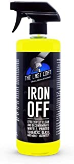 The Last Coat Iron Off, Heavy Duty Fallout Iron Remover and Wheel Cleaner Treatment,32 oz, Rust and Brake Dust Dissolver, ...