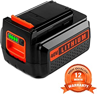 LBXR36 2.5 Lithium Battery for Black & Decker, 40V Max Battery for B&D LBX36 LBX2040 TC220 LHT2436 LSW36 LST136 LCC140 Series Cordless Power Tool for Black and Decker 40V 36V Batteries(1 Pack)