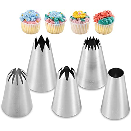 1Set Medium Icing Piping Pastry Nozzle Tips Baking Tool Stainless Steel NozzRSDE
