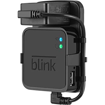 Outlet Wall Mount for Blink Sync Module - Mount Bracket Holder for Blink XT and Blink XT2 Outdoor and Indoor Home Security Camera with Easy Mount Short Cable - Black