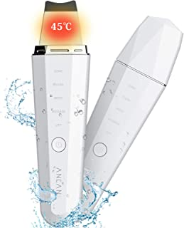 ANLAN IPX5防水 ウォーターピーリング 超音波 美顔器 超音波ピーリング スマートピール 温熱ケア 超音波振動 EMSマッサージ イオン導入 イオン導出 USB充電式 毛穴 黒ずみ ニキビ 角栓 角質 皮脂 汚れ除去