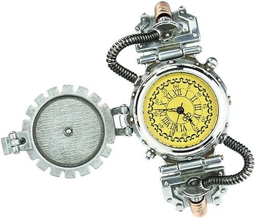 popular NON NON NON MagiDeal Reloj Gótico de Cuarzo del Engranaje Steampunk con Números Romanos, 4 Colors amarillo 2  aquí tiene la última