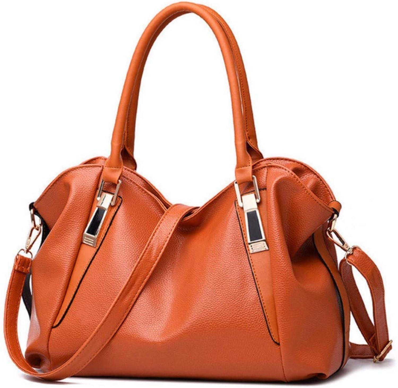 JQSM Luxury Leather Women Shoulder Bag Fashion Office Worker Handbag Large Capacity Soild Female Totes Four Seasons Universal
