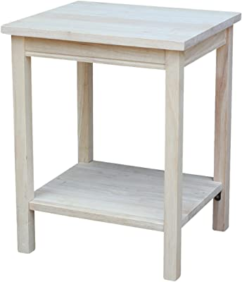 International Concepts Accent Table, 14 L x 16 W x 20 H inches, Unfinished