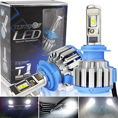 Safego 70W H7 7000LM 4 LED Puces Kit de conversion Ampoule de Rechange Auto Véhicule Conduire Lampe Feux Lumiere Pour Voiture Automobile véhicule Blanc Pur 6000K DC 12V