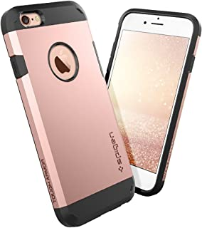 Spigen Tough Armor iPhone 6S Case with Extreme Heavy Duty Protection and Air Cushion Techonology for iPhone 6S/iPhone 6 - Rose Gold